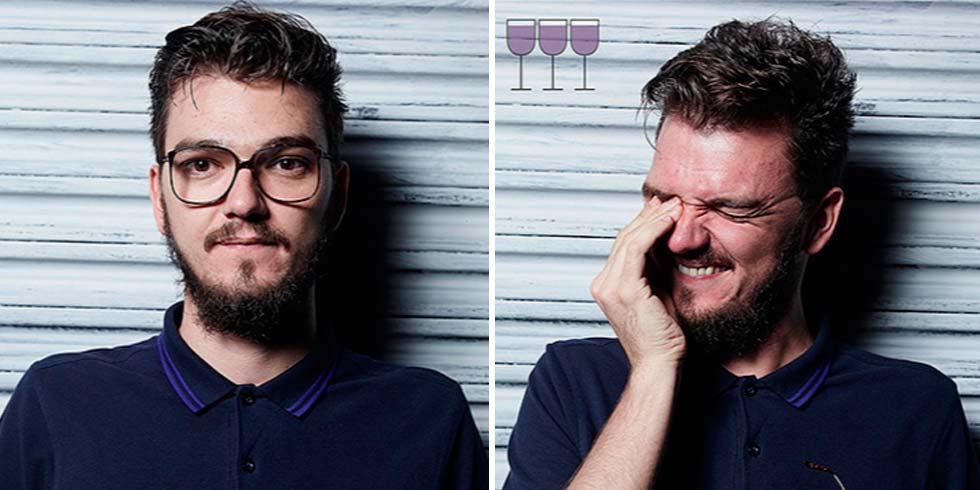 Así es como cambia nuestra cara tras beber unas copas de más ...
