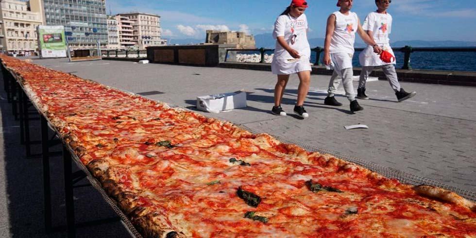 Resultado de imagen para pizza mas grande del mundo